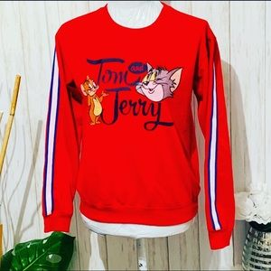 Tom And Jerry Red Sweater Size Medium